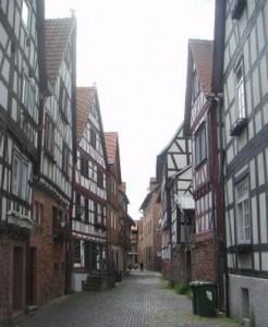 Abb. 2: Fachwerkhäuser in Büdingen/Hessen