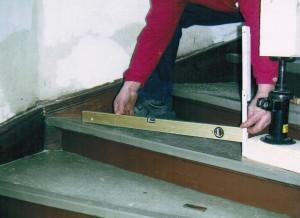 Neigung der Treppe, 55 mm auf 80 cm