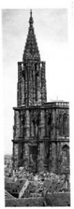 Turmhöhe 76 m, Turmhelm 38,26 m, Gesamthöhe 142 m