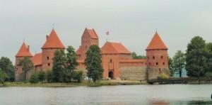 Wasserburg Trakai, Bauzeit 1360 Litauen nähe Vilnius, (im 20. Jhd. restauriert)