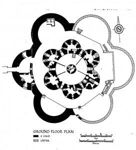 Grundriss der Wehranlage Deal Castle