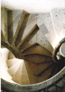 Der Zusammenschluss der beiden Treppen (auch Kussstufen genannt
