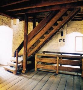 Die Treppe im Eschenheimer Turm von Frankfurt a.M. stammt aus der Entstehungszeit des Turmes