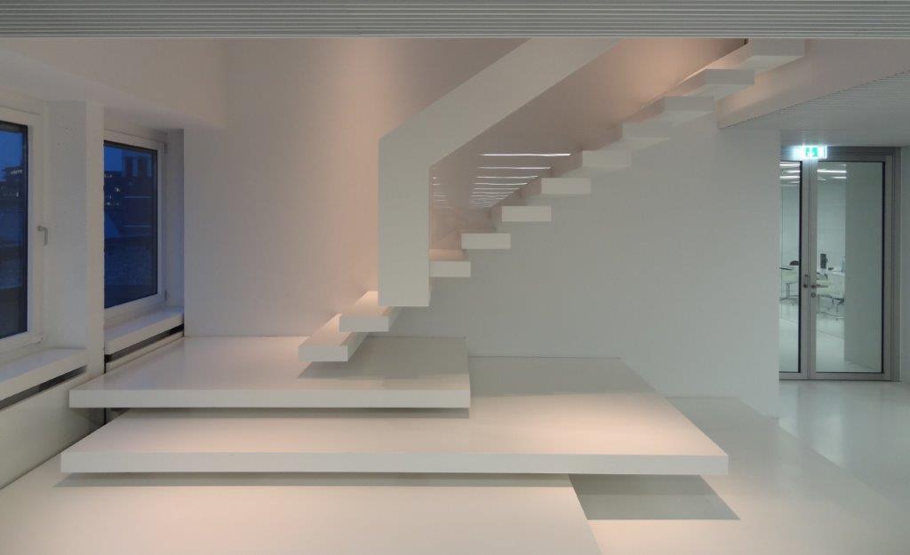 eingespannte treppenstufen holz ~ kreatif von zu hause design ideen,