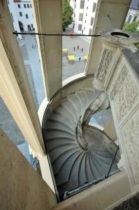 Aufsicht des letzten Treppenlaufes