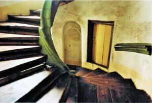 Über 400jährige Fichtenholztreppe