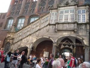 Die Treppe führt zu der so genannten Kriegsstube, dem einstigen Schatz des Rathauses