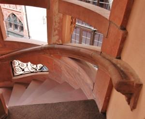 Wandhandlauf am Treppenaustritt
