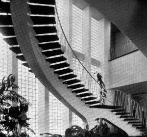 Das sogenannte Plärrer-Hochhaus zu Nürnberg. Architekt Wilhelm Schlegtendal. Bauzeit 1951-1953