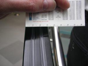 Die Glasbrüstung hat eine Dicke von 32 mm