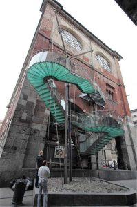 Die Treppe wird derzeit nicht genutzt