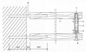 Schnitt Wand-Stufe-Bolzen