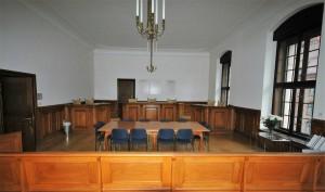 Im Saal 253 des Justizgebäudes erinnert eine Dauerausstellung an die Prozesse gegen die Mitglieder der Weißen Rose